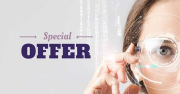 Special Offer with Woman in Smart Glasses