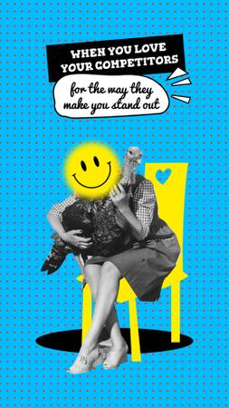 Joke about competitors with funny Bird Instagram Story Modelo de Design
