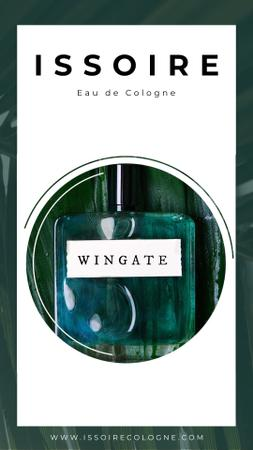 Plantilla de diseño de Perfume in Green bottle Instagram Video Story