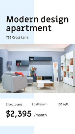 Szablon projektu Cozy Living Room Interior design Instagram Story