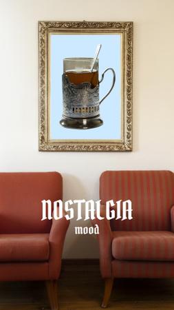 Ontwerpsjabloon van Instagram Story van Nostalgic Mood with vintage furnishing