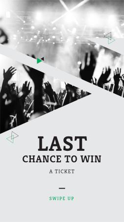 Plantilla de diseño de Tickets on Concert Offer with Cheerful Crowd Instagram Story