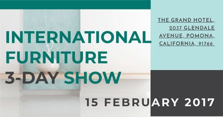 International furniture show Facebook ADデザインテンプレート