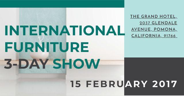 International furniture show Facebook AD Modelo de Design
