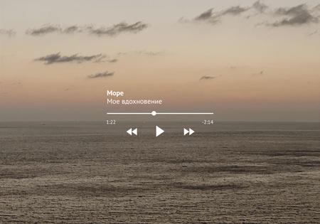 Sea Inspiration with Sunset on Horizon VK Universal Post Tasarım Şablonu