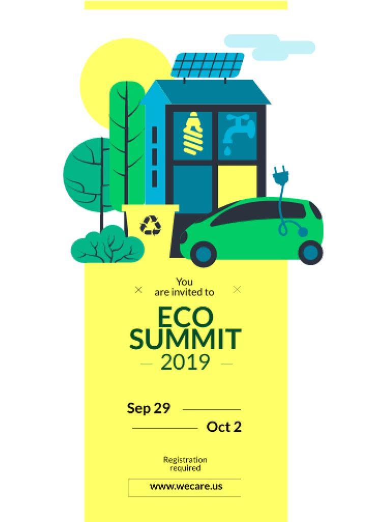 Eco Summit Invitation Sustainable Technologies Flayer Modelo de Design