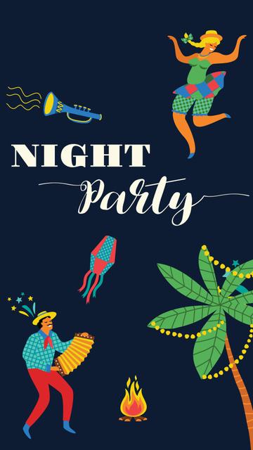 Plantilla de diseño de Festa Junina Party Announcement Instagram Story