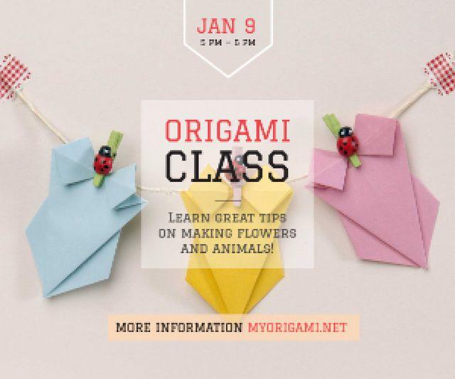 Szablon projektu Origami class poster Medium Rectangle