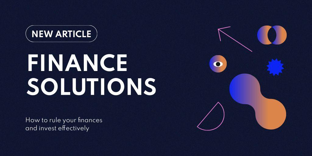 Finance Solutions concept Twitter Design Template