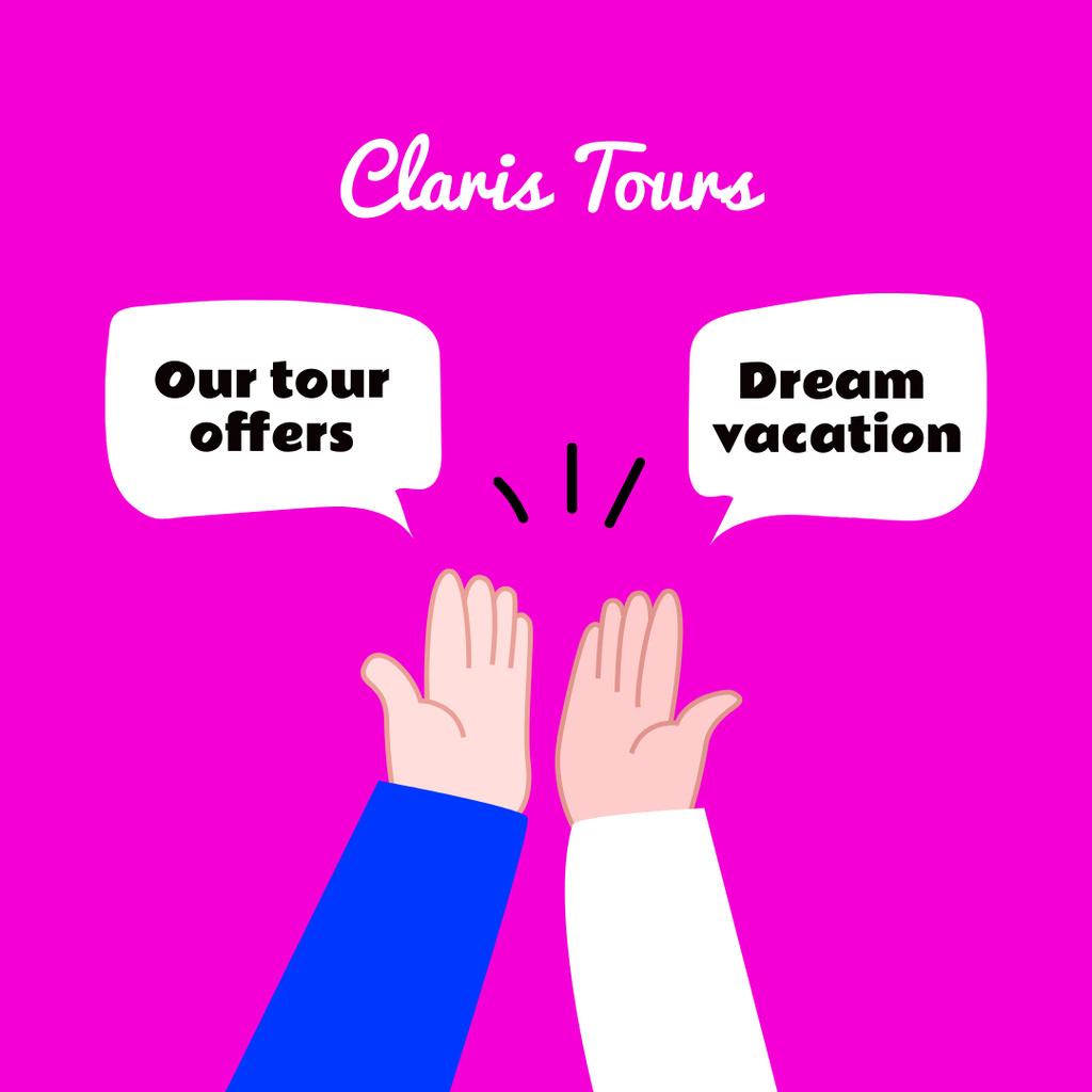 Plantilla de diseño de Creative Promotion of Travel Tours Instagram