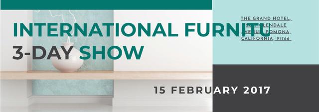 Furniture Show announcement Vase for home decor Tumblr Modelo de Design
