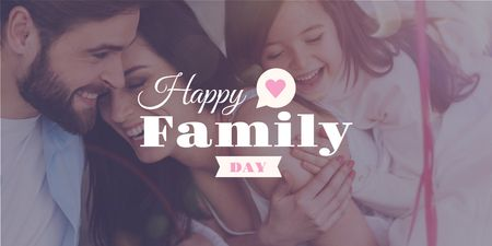 Ontwerpsjabloon van Twitter van Family day Greeting