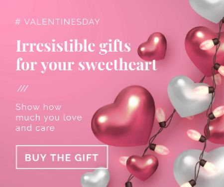 Plantilla de diseño de Valentines Gift Offer in pink Medium Rectangle