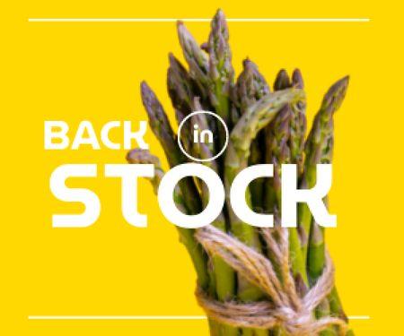 Designvorlage Veggie Store Offer with Fresh Asparagus für Medium Rectangle