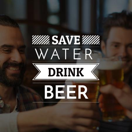 Template di design People drink Beer with Quote Instagram