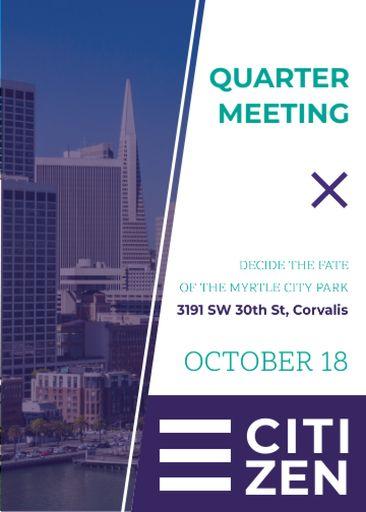 Quarter Meeting Announcement City View