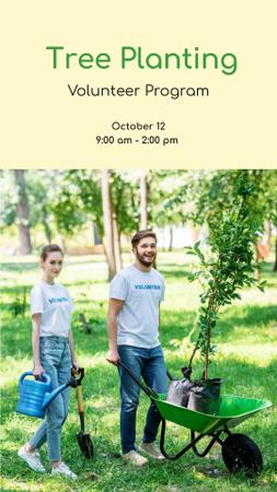 Volunteer Program Team Planting Trees Instagram Story – шаблон для дизайна
