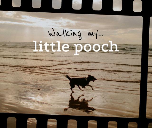 Dog Running at the Beach Facebookデザインテンプレート