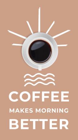 Plantilla de diseño de Cute Aromatic Coffee Cups Instagram Video Story