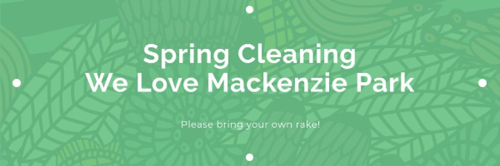 Spring cleaning in Mackenzie park —デザインを作成する