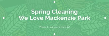 Spring cleaning in Mackenzie park Email header – шаблон для дизайну