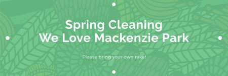 Spring cleaning in Mackenzie park Email header Modelo de Design