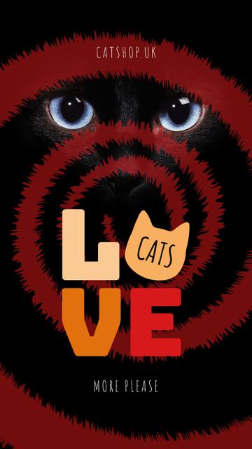 Ontwerpsjabloon van Instagram Story van Cat eyes on hypnotizing background