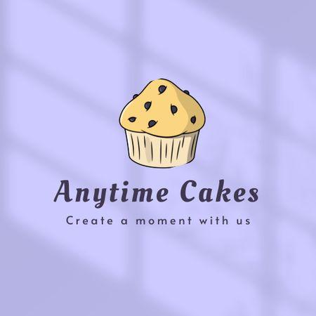 Plantilla de diseño de Bakery Ad with Cupcake Illustration Logo