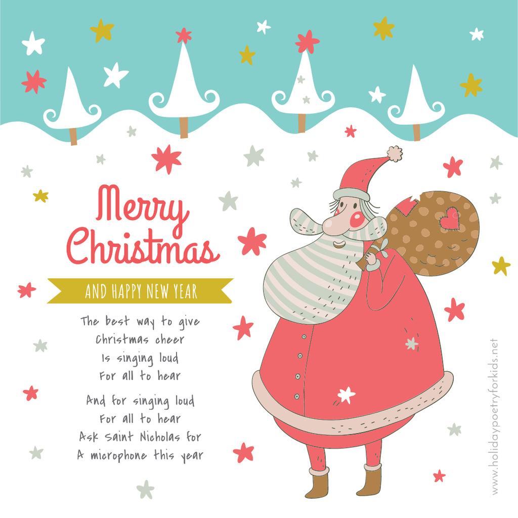 Christmas Holiday greeting Santa delivering Gifts — Crear un diseño