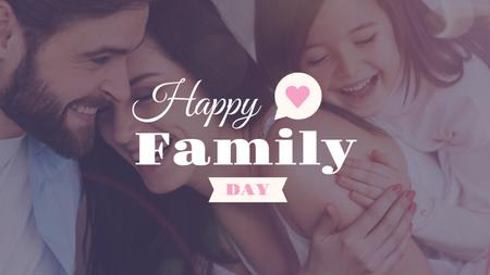 Happy Family Day Parents with Daughter Youtube Modelo de Design