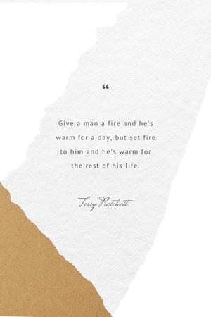 Plantilla de diseño de Motivational Quote in pastel tones Pinterest