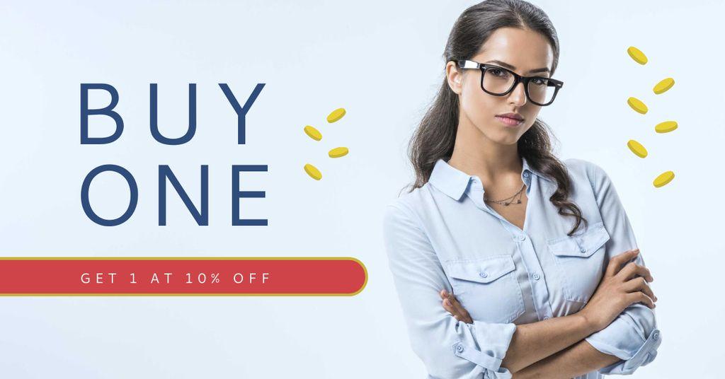 Business Offer with Confident Businesswoman — Создать дизайн