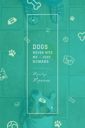 Plantilla de diseño de Citation about good dogs Pinterest