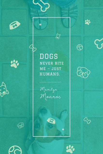 Citation about good dogs Pinterest Tasarım Şablonu