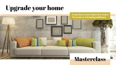 Plantilla de diseño de Interior decoration masterclass with Sofa in room FB event cover