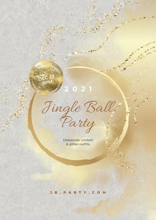 Modèle de visuel Jingle Bell Party announcement - Poster