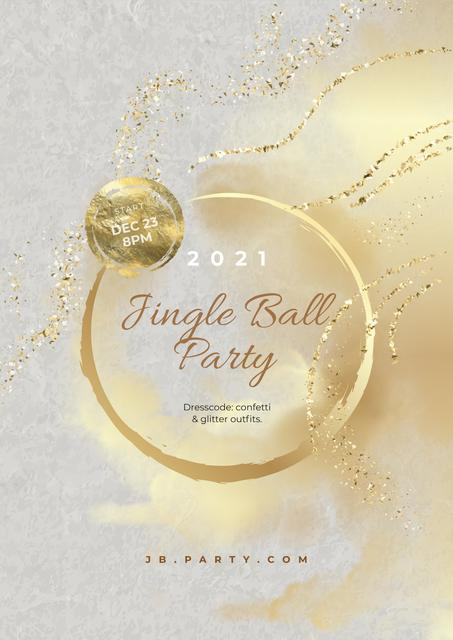 Jingle Bell Party announcement Poster Modelo de Design