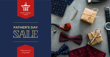 Template di design Stylish male accessories for Father's Day Facebook AD