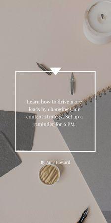 Inspirational Phrase with Notebook Graphic – шаблон для дизайну