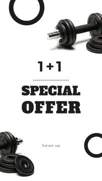 Gym Equipment Store Special Offer with Dumbbells