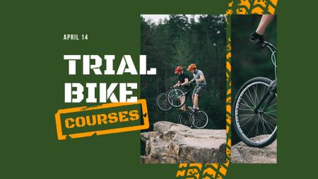 Bike Courses Offer with Couple on Hill FB event cover – шаблон для дизайна
