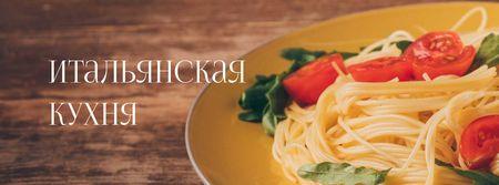 Pasta Restaurant tasty Italian Dish Facebook cover – шаблон для дизайна