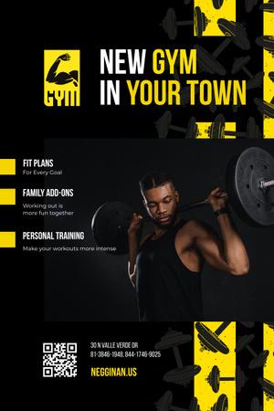 gym Pinterest – шаблон для дизайну