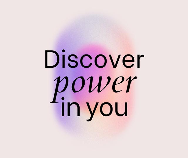 Girl Power Inspirational citation Facebook – шаблон для дизайну