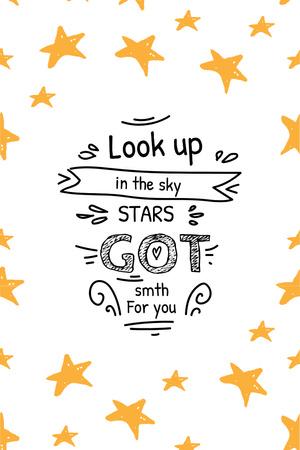 Inspirational Quote with Stars Pinterest – шаблон для дизайна