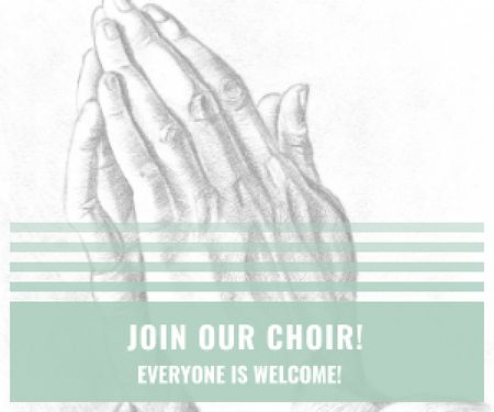 Template di design Invitation to a religious choir Medium Rectangle