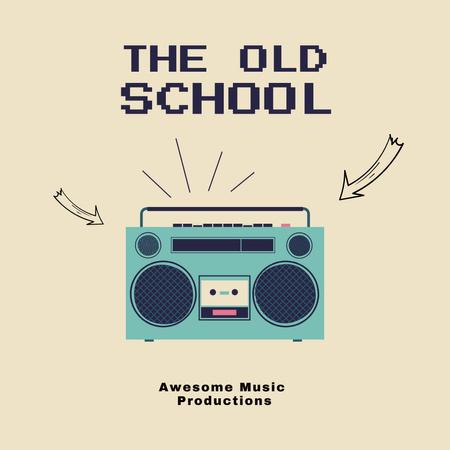 The Old School Album Cover Instagram Design Template