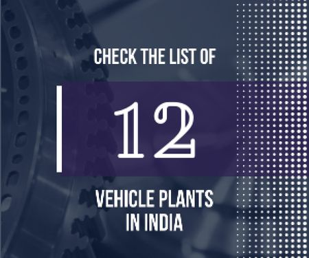 Vehicle plants in India poster Medium Rectangle Design Template