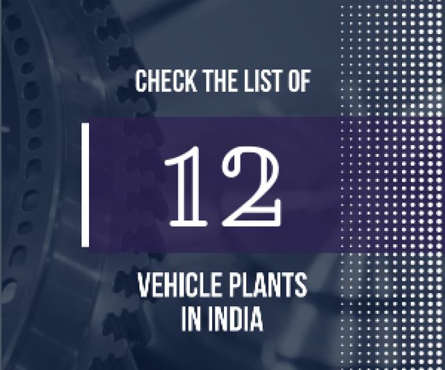 Vehicle plants in India poster Medium Rectangle Modelo de Design
