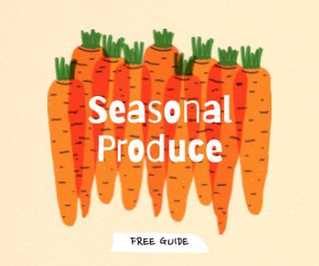 Seasonal Produce Ad with Carrots Illustration Large Rectangle – шаблон для дизайну